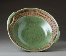 Green Serving Bowl