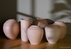 Bisque-fired pottery