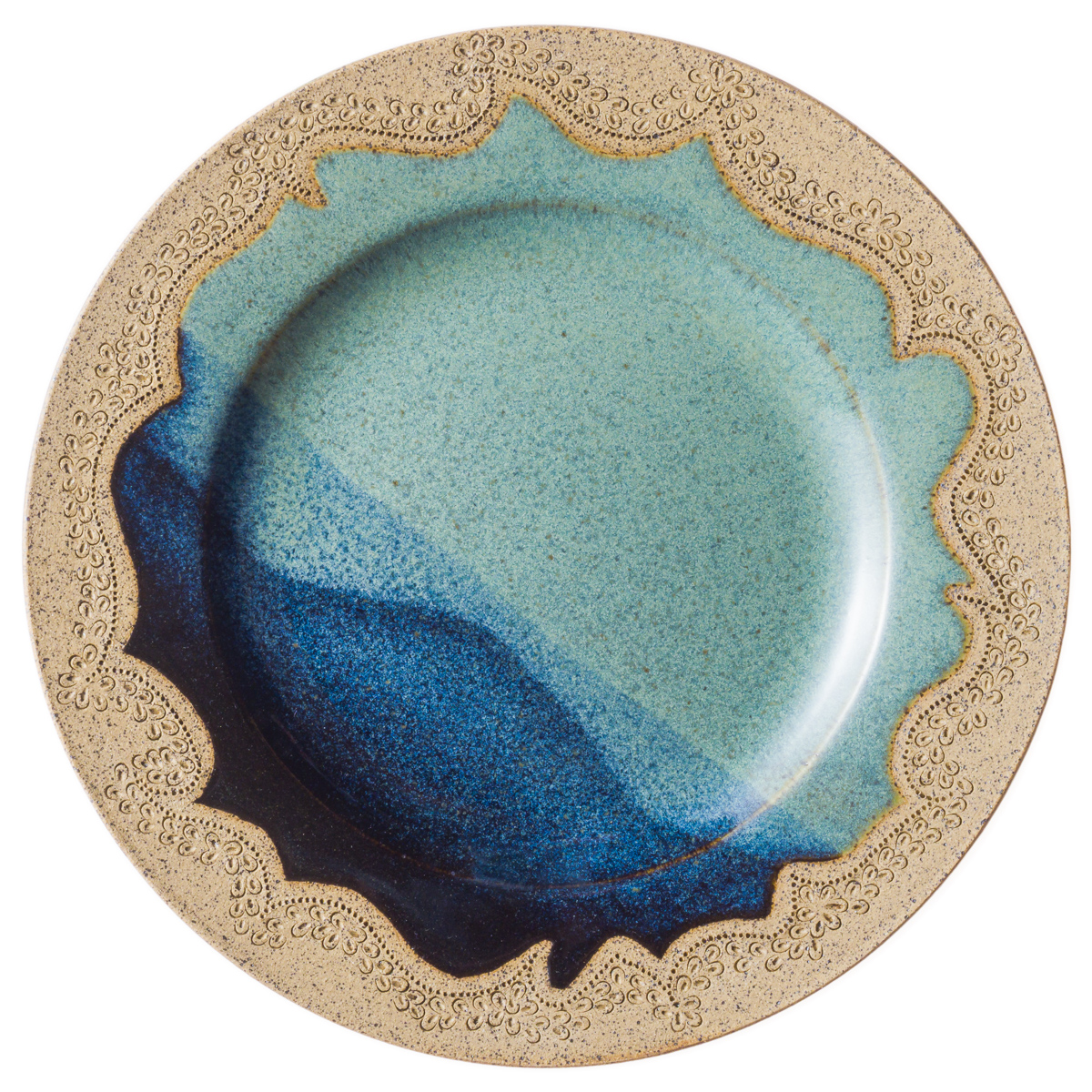 Patterned Stoneware Plate