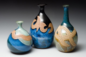 Stoneware Pottery Vases by Lori Duncan